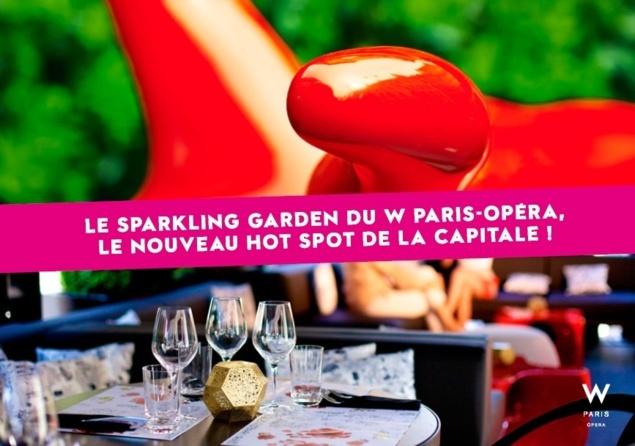 Sparkling Garden de l'Hôtel W-Paris // DR
