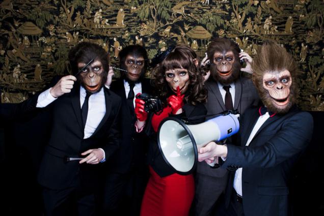 La troupe des 5 Monkey Crashers // © Flavien Prioreau