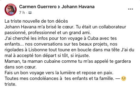 "RIP Johann Guiheux dit ""Johann Havana""."