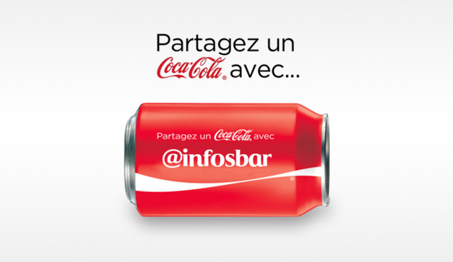 Partagez un Coca-Cola avec Infosbar