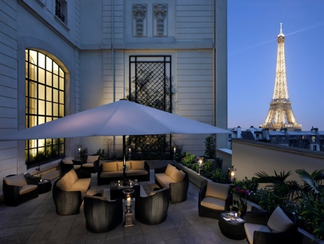 Terrasse d'été au Shangri-La Hotel Paris // DR