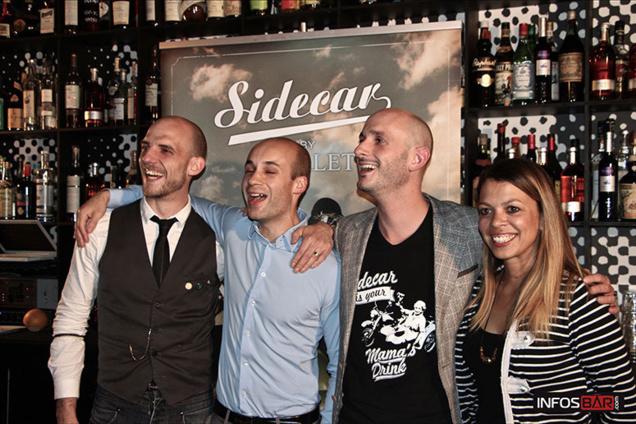 De gauche à droite : Alexandre Lambert, Jérémy Auger, Luc Merlet et Christina Monaco // © Infosbar