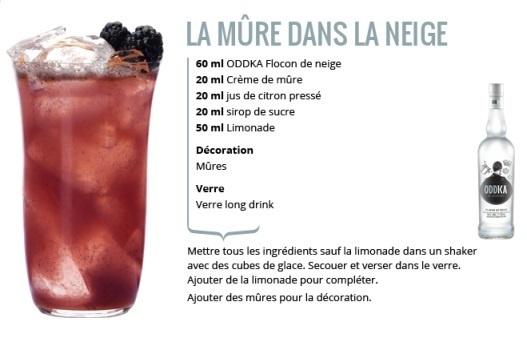 """Recette Cocktail """"La Mûre dans la Neige"""" // © ODDKA"""