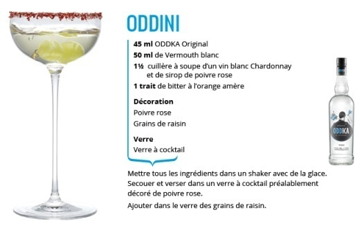 "Recette Cocktail ""Oddini"" // © ODDKA"