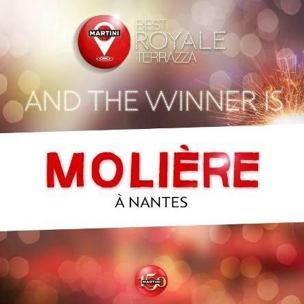 Le Molière à Nantes : Best Royale Terrazza 2013 // © Facebook Martini France
