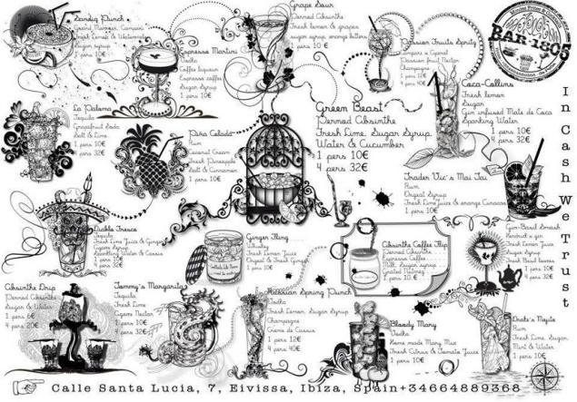 Carte des Cocktails au 1805 // DR
