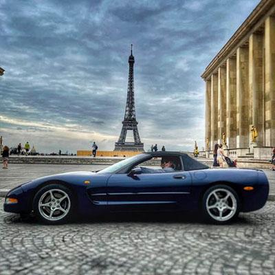 Départ du road trip le 4 juillet 2021 depuis le Trocadéro