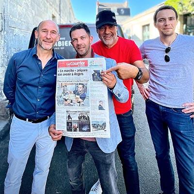 Franck Choisne, Yoann Demeersseman, Laurent Le Pape et Julien Cuvillers