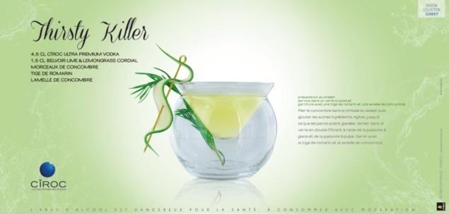 "Cocktail ""Thirsty Killer"" // © Cîroc"