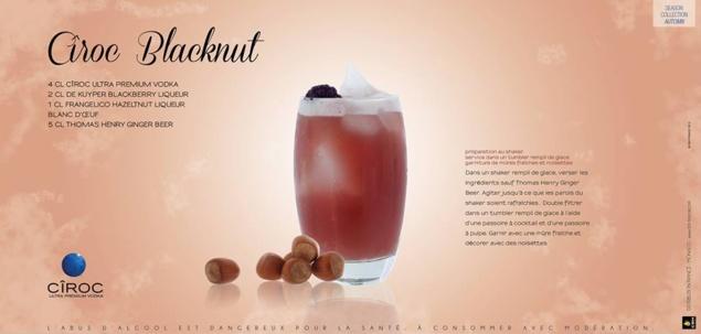 """Cocktail """"Cîroc Blacknut"""" // © Cîroc"""