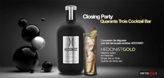 HEDONIST a choisi le Quarante Trois Cocktail Bar