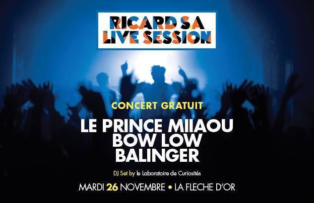 Ricard S.A Live Session à la Flèche d'Or // DR
