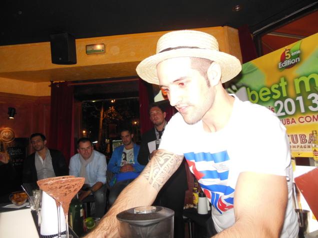 Matthias ASO au Cuba Compagnie pour le Best Mojito in Paris 2013 // DR