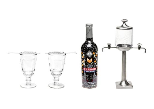 Bouteille et fontaine Pernod Absinthe Kitsuné // DR