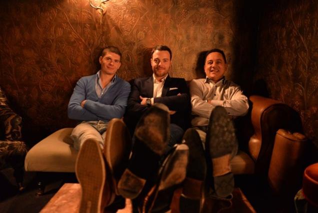 De gauche à droite: Guillaume Guerbois, Marc Bonneton et Samuel Roustaing