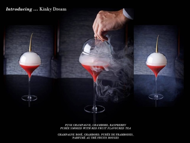 "Cocktail ""Kinky Dream"" // © Page Facebook Park Hyatt Paris-Vendôme"