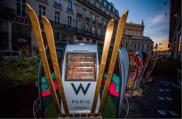 Station de ski éphémère au W Paris-Opéra // DR
