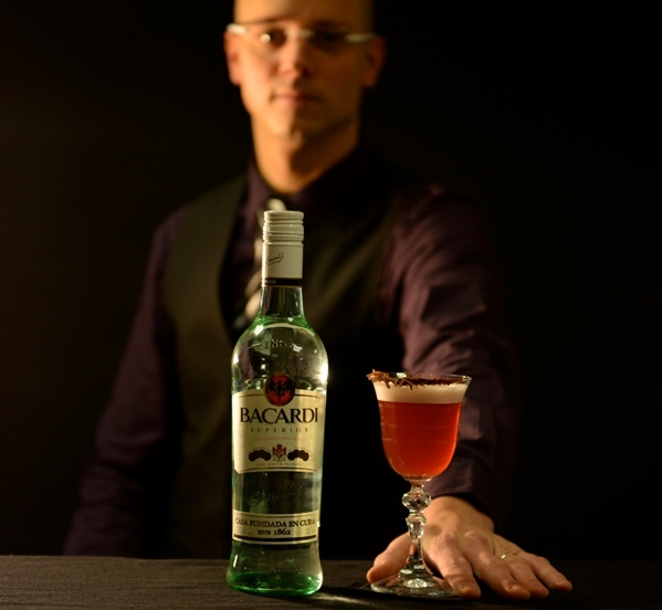 Christophe Davoine et son cocktail // DR