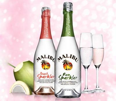 Malibu Rum Sparkler // DR