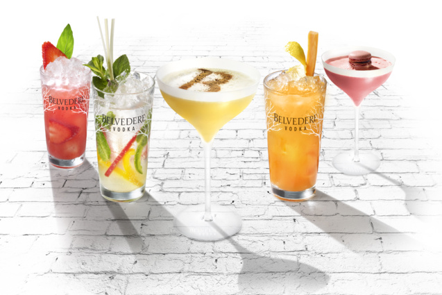 Quelques suggestions de cocktails Belvedere