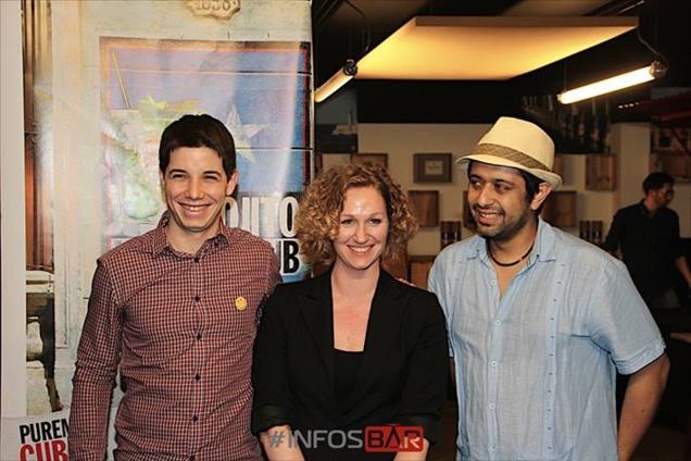 De gauche à droite : Alexis Taoufiq, Christina Schneider et Carlos Madriz // ©Infosbar