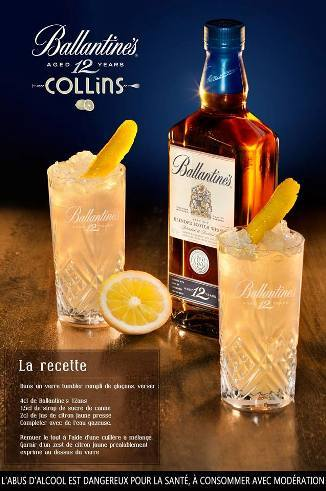 "Cocktail ""Ballantine's Collins"" // © Page Facebook Ballantine's France"