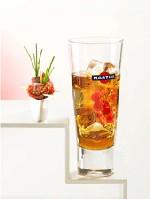 Martini Rosso eau gazeuse + brochettes de magret