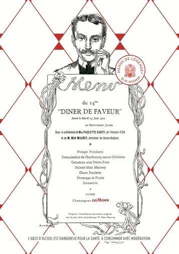 Menus de Légendre G.H.Mumm 2014 // DR
