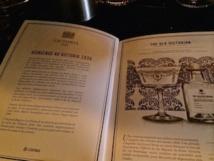 La carte des cocktails Chivas
