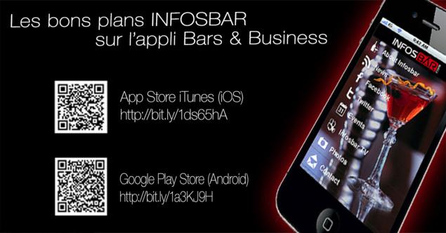 Téléchargez l'appli Infosbar et rejoignez des dizaines de milliers d'utilisateurs