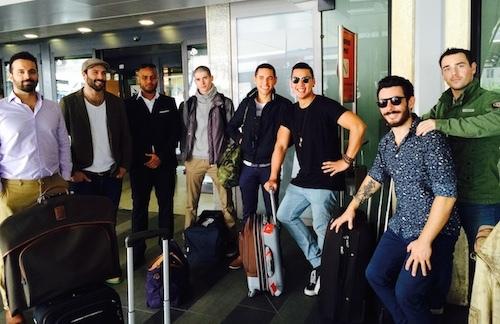 Arrivée des candidats et coaches à Rome
