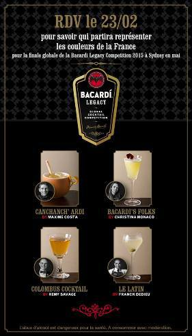 Finale France-Italie de la Bacardi Legacy Cocktail Competition 2015