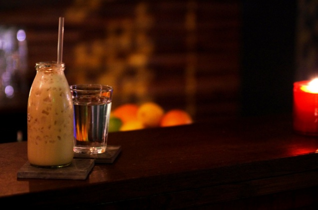 """Cocktail """"Lait de Pélican"""" // © Infosbar.com"""
