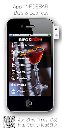 La vidéo et les photos de la Bacardi Legacy sont disponibles et partageables depuis l'appli Infosbar