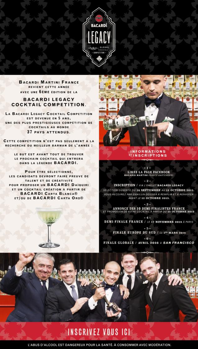 Franck Dedieu, lauréat monde Bacardi Legacy Cocktail Competition 2015