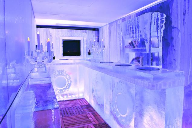 Une des versions intérieures de l'Arctic Room