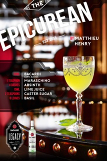 The Epicurean par Matthieu Henry / Bacardi Legacy 2016