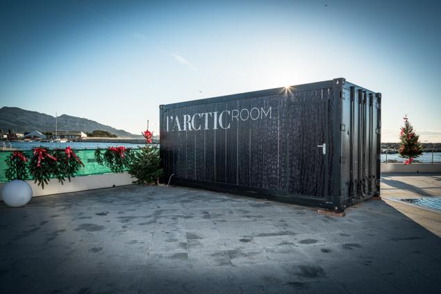 Vue extérieure de l'Arctic Room (personnalisable)