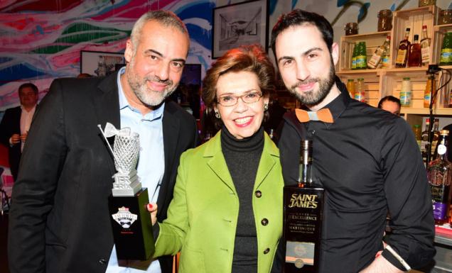Laurent Le Pape (Infosbar), Edith Cayard (Présidente du groupe La Martiniquaise) et Régis Celabe © Gilles Petipas