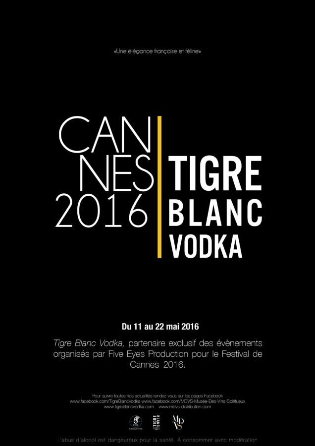 Tigre Blanc vodka, partenaire de Five Eyes au Festival de Cannes