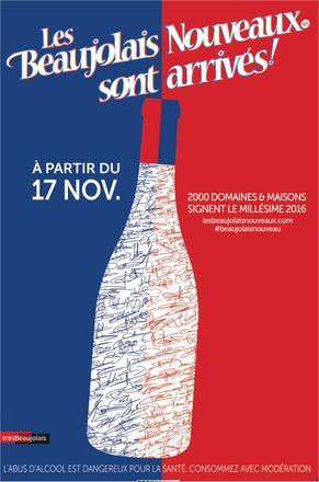 Les Beaujolais Nouveaux arrivent ce 17 novembre 2016