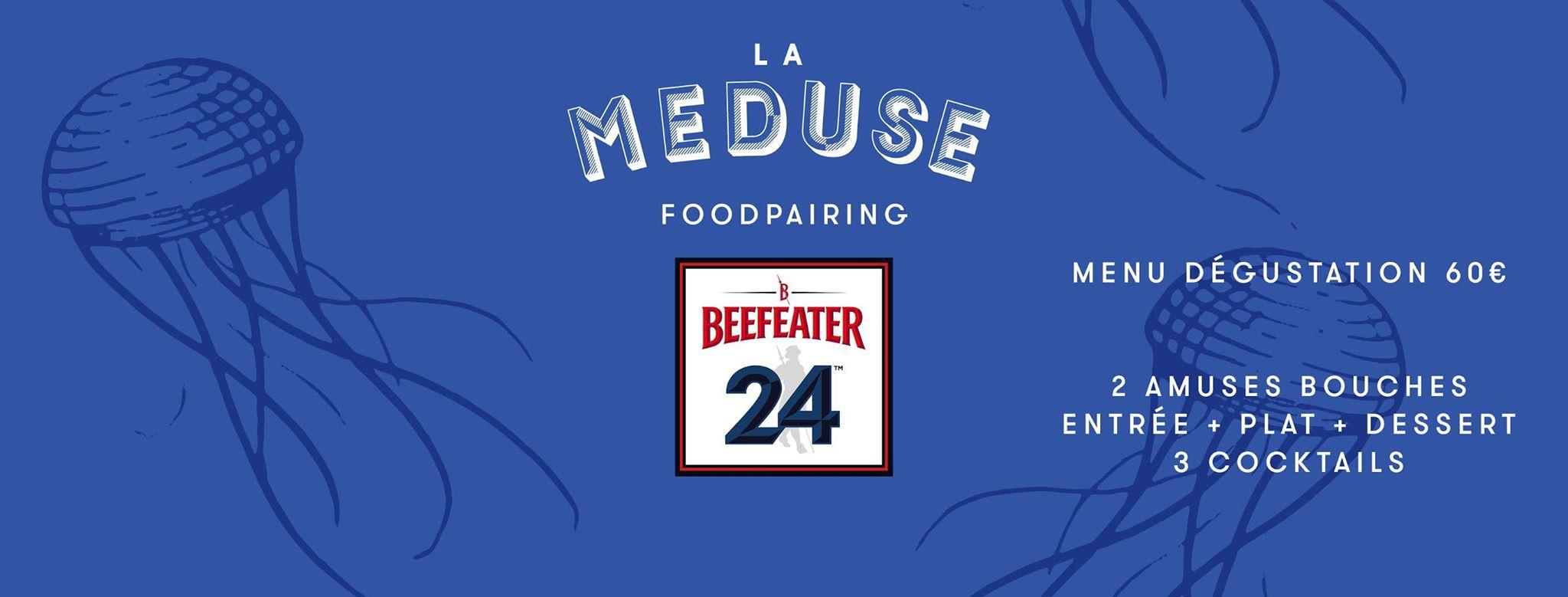 La Méduse (Paris) s'attaque au foodpairing avec Beefeater 24