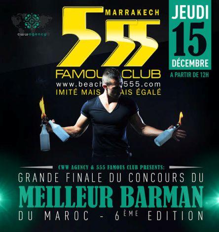 Finale 2016 du Concours du Meilleur Barman du Maroc