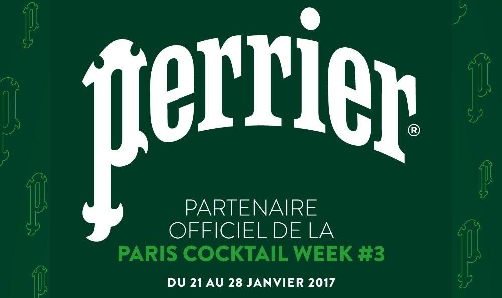 Perrier® : partenaire officiel de la Paris Cocktail Week 2017