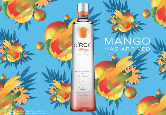 Cîroc Mango, nouvelle déclinaison de la vodka française