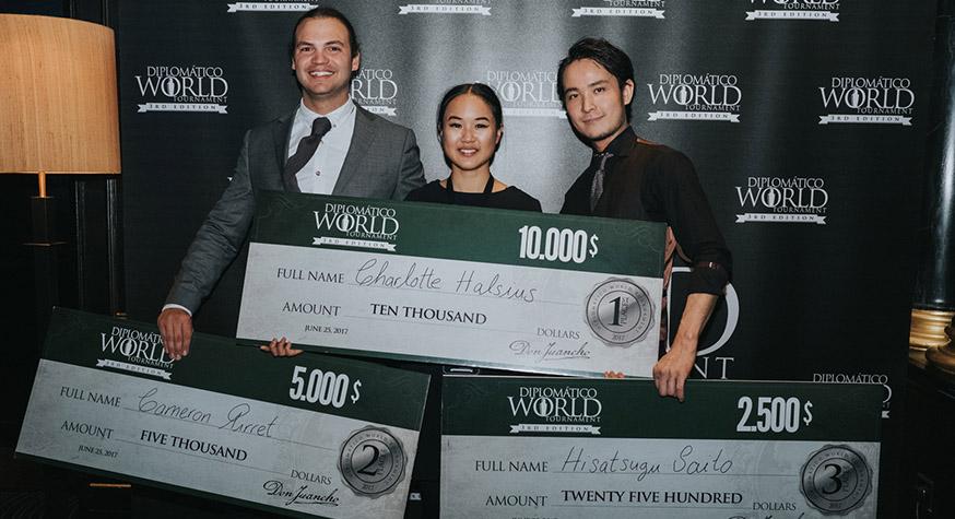 Les 3 lauréats du Diplomatico World Tournament 2017