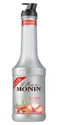 Le fruit de Monin - Rhubarbe est disponible sur : www.moninshopping.com