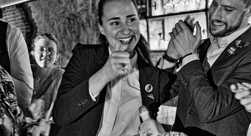 Nathalie Durrieu après l'annonce de sa victoire