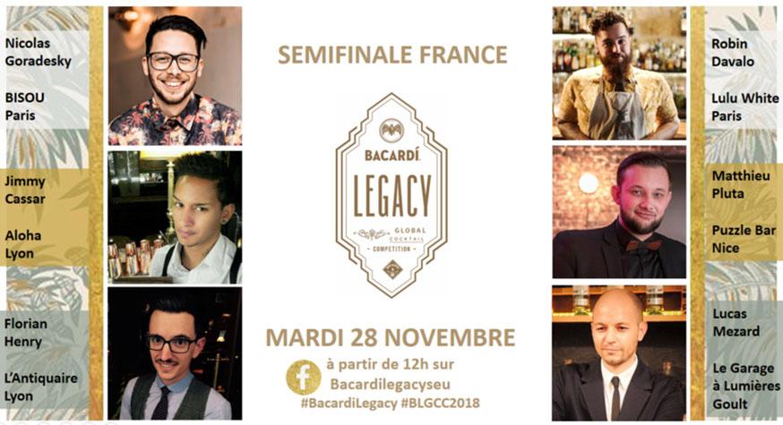 Bacardi Legacy Cocktail Competition 2018 : les Finalistes France
