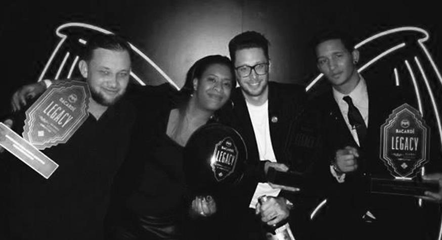 Mathieu Pluta (Puzzle bar), Vicky Milon, Nicolas Goradesky (Bisou) et Jimmy Cassar (Aloha bar)